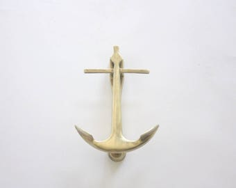 Large Vintage Brass Anchor Door Knocker