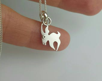 GAZELLE silver charm necklace from Mini Zoo series