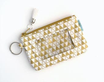 Gold Wallet - Teacher Gift for Her - ID Badge Holder - Mini Wallet - Teacher Appreciation Gift - Womens Wallet -  Ready to Ship