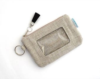 Simple Wallet - Credit Card Wallet - Minimalist Wallet - ID Wallet Keychain - College Student Gift for Her - Student ID Holder