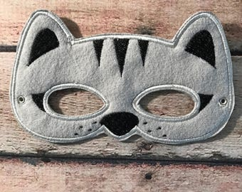 Adult Cat Mask, Felt Cat Mask, Mask, Felt Mask, Mask, Animal Mask, Party Mask, Felt Teen Mask, Dress Up Mask, Party Favors Mask, Party Mask