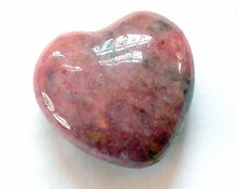 Rhodonite Gemstone Pocket Heart Carving Carved Natural Stone Specimen earthegy #1797