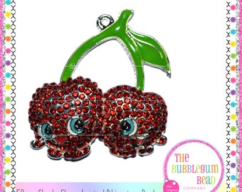 50mm CHEEKY CHERRY INSPIRED Rhinestone Bubblegum Necklace Pendant, Gumball Necklace Pendant, Chunky Necklace Pendant, The Bubblegum Bead Co.