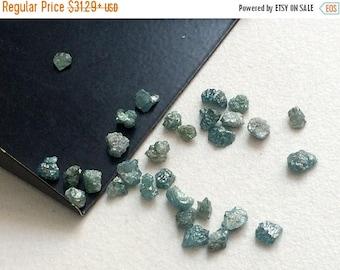 ON SALE 55% Blue Raw Diamond, Blue Rough Diamond, Rough Diamond, Uncut Diamond, Loose Diamond, Blue Conflict Free 3-6mm, 1 CTW
