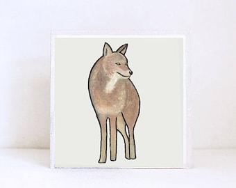 coyote art print, southwestern nursery art boho nursery decor southwest animal print nursery animals modern nursery decor redtilestudio