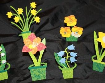 Floral Napkin Rings- Vintage Metal Floral Napkin Rings- Set of 6- Summer Flower Napkin Rings