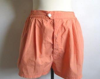 50OFF Event Vintage 1980s Shorts Benetton Pale Orange Cotton Shorts Medium