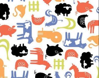 Organic Farm Crib Sheet or Changing Pad Cover, Baby Crib Bedding, Animal Crib Sheet, Farm Nursery, Barn Baby Bedding