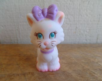 Tyco Quints Cat Kitten 1991 Purple  Bow and Collar