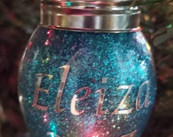 Personalized Christmas bulb ornament