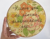 I Love You To Pieces Wall Hanging