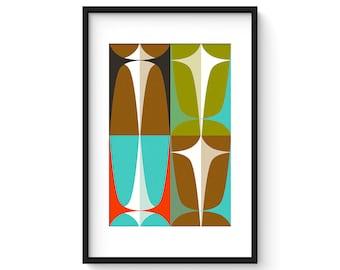 ASPECT no.19 - Giclee Print - Mid Century Modern Danish Modern Minimalist Modernist Abstract
