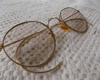 Antique glasses,Arco glasses,B and L glasses, Bausch and Lomb, 12 KGF rims,full vue glasses,Gatsby look glasses,
