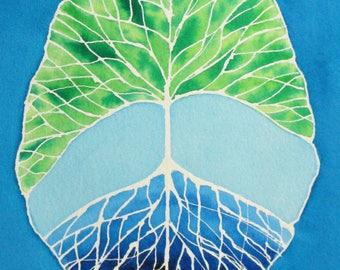 Root and Branch Brain 22 -  original watercolor painting