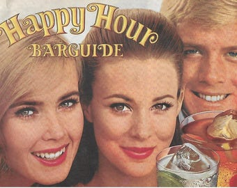Vintage Mid Century Happy Hour Bar Guide - Southern Comfort