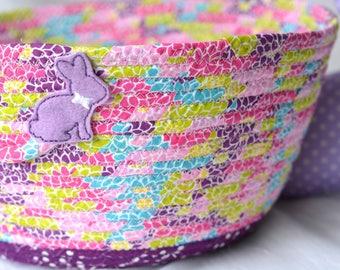 Girl easter basket handmade flower girl basket 6h cute purple easter basket purple flower girl basket handmade easter basket purple wedding basket negle Images