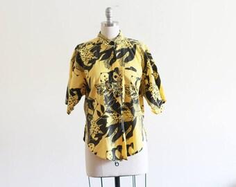 Vintage Printed Panda Novelty Shirt / Slouchy / M