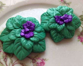 African Violet Soap Set, Flower Soap, Bath Soap, Gift Soap, Novelty Soap, You pick scent and color
