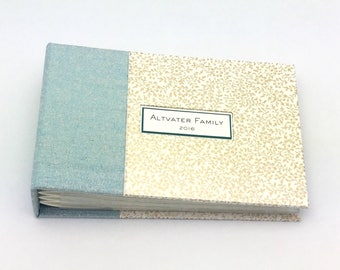Blue and Gold Mini Photo Album for 4x6 Photos