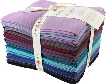 Kaffe TWILIGHT  23 pc Fat Quarter Bundle - Shot Cottons Solids - Kaffe Fassett Collective for Westminster Fabrics