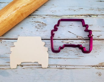 Front Facing Off Road Vehicle or SUV Cookie Cutter and Fondant Cutter and Clay Cutter