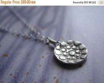 SALE Mini Pebble Stone Sterling Silver Necklace