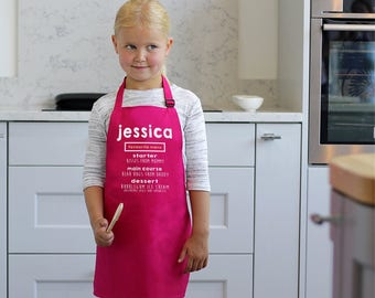 Kids Apron, Child's Apron, Childrens Apron, Child's Cooking Apron, Kids Cooking Apron, Unique Apron