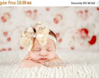 12% off Vintage headband, Baby headband, newborn headband, trim headband, adult headband, and photo prop Victorian lace headband