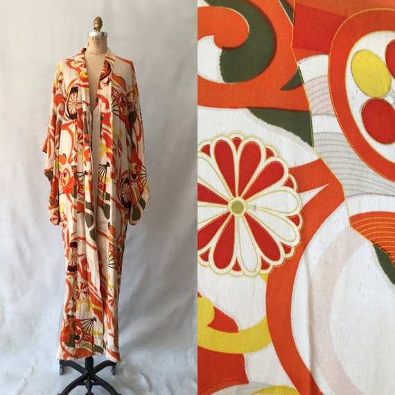1930s Orange and Yellow Kimono