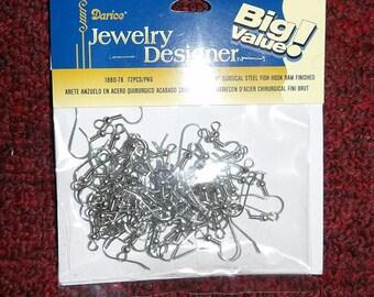 Jewelry Findings - 36 pairs of 3/4 inch surgical steel fish hook wire pierced earrings for dangler earrings - jf2