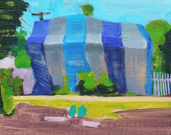 Termite Tent in South Park, San Diego Landscape Painting