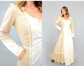 SUMMER SALE 70's GUNNE Sax Gingham Dress