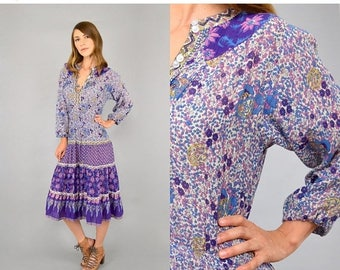 SUMMER SALE 70's India Cotton Dress