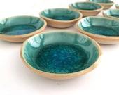 Small ceramic bowl, Small ceramic dish, Ceramic Ring Dish, Ring holder, Wedding favor, Something blue, Birthday Gift, Gifts for her