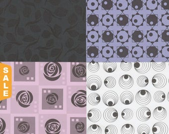 Hot August Paper Sale Mix & Match 12x12 Art Papers in Black and Bold Designs for Card Making, Collage, Scrapbooking and More