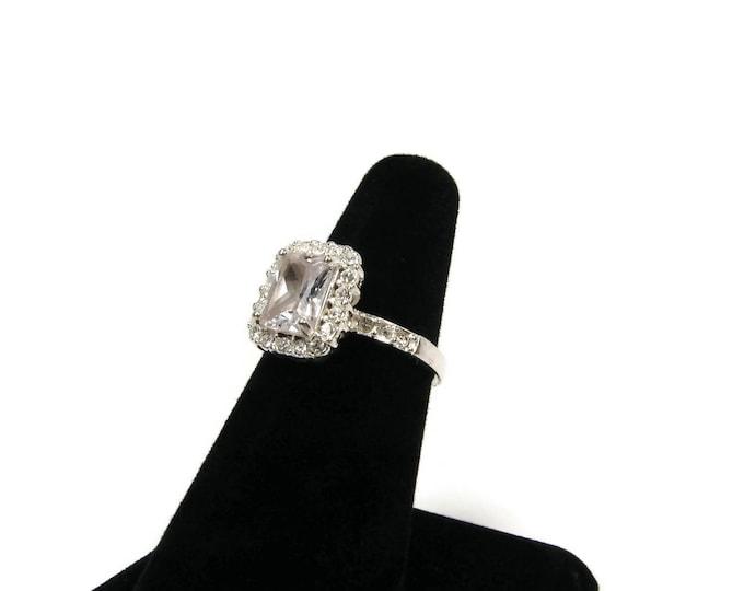 Bling Engagement Rhinestone Ring Size 6