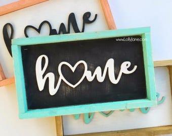 home cutout wood sign home decor home cutout home sign