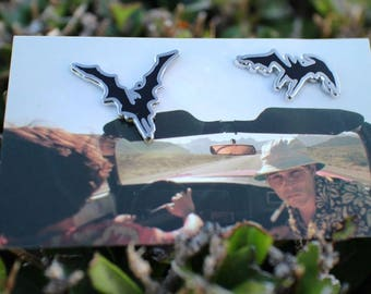 FEAR AND LOATHING - bat pin pack - set of 2