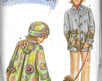 Simplicity 4805 Mother Daughter Fleece Coat Jacket Daisy Kingdom Sewing Pattern UNCUT
