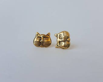 Laurel Burch / Cat Earrings / 80s Earrings / Vintage Earrings