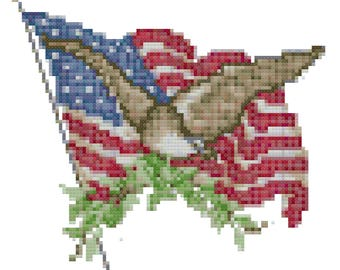 American Pride Cross Stitch Pattern