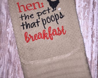 Farm kitchen hand towel - kitchen linens - house warming gift - made to order