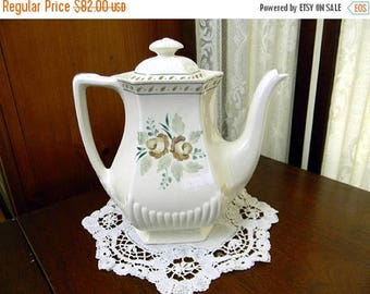 ON SALE Tea or Coffee Pot, Teapot - Adams Madeleine - Vintage Porcelain Pot 8699