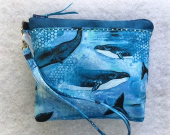 Blue Whale Wristlet