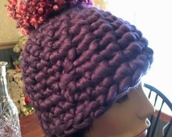 Chunky Pom Pom Hat