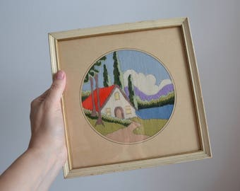 Small Embroidered Home Sweet Home Picture