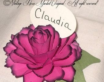March Sale Hand Sculpted 3D Claudia Rose Escort  Card French Elegant Wedding ESC