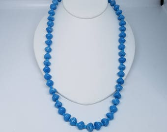 Blue Bead handmade necklace