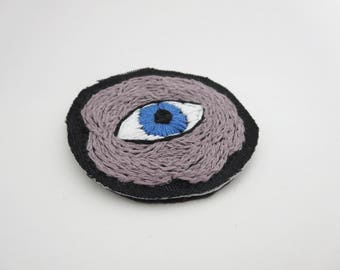 Lapel Patch Third Eye Flower Eye Patch Eyeball Sew On Patch Embroidered Eye Patch