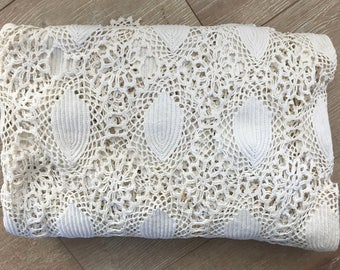 Vintage Crochet Tablecloth for Crafting